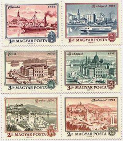 Bélyeg sorozat Budapest