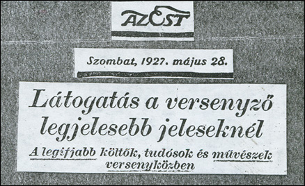 Az Est (1927. május 28.)