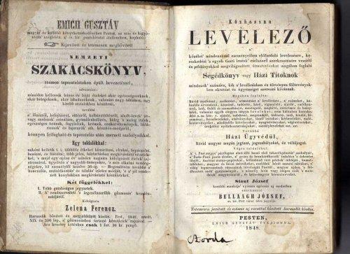 Közhasznú levelező könyv