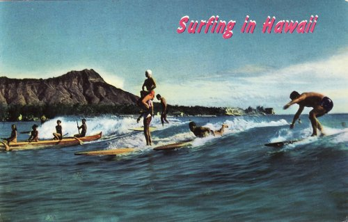 Szörfösök Hawaiin