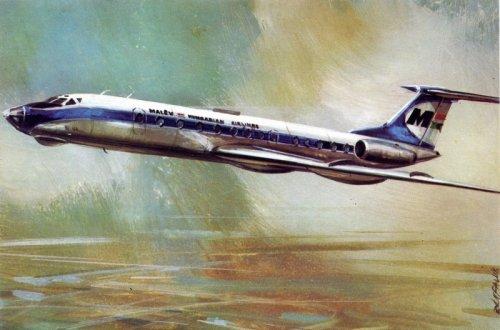 Malév Tu-134 repülőgép