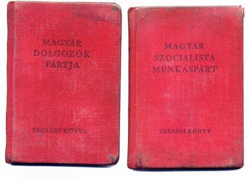 Magyar Dolgozók Pártja és az MSZMP tagsági köny