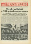 Népszabadság címlapja a XII. pártkongresszusól