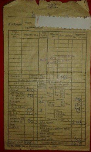 Oroszlányi Szénbányák fizetési papírzacskó