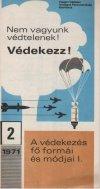 Polgári védelmi propaganda prospektus 1971-ből
