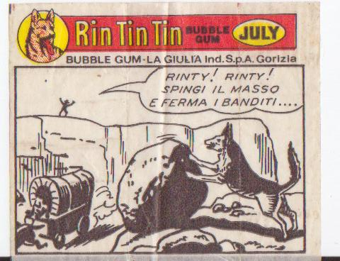 Rin-Tin-Tin rágógumi papír