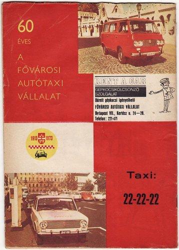 Fővárosi Autótaxi Vállalat száz éves