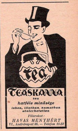 Teáskanna tea reklám