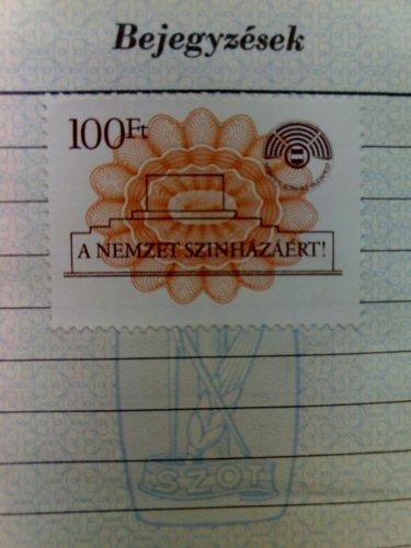 Nemzeti Szinház téglajegy bélyeg