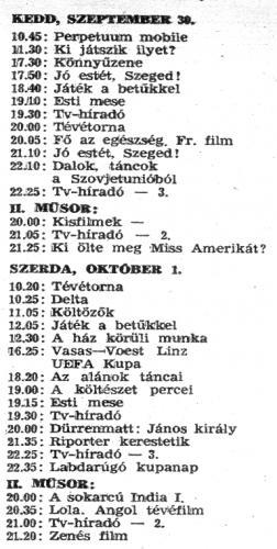 Tv-műsor 1975