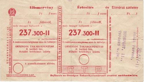 Átutalási postautalvány