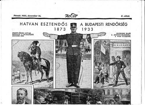 Budapesti rendőrség hatvan éves