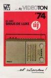 Videoton Sirius de Luxe rádió