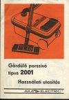 AKA Electric Format 2001 porszívó kezelési útmutató