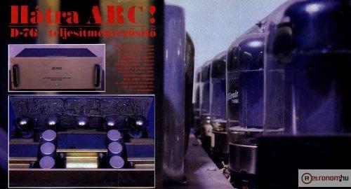 1985/2-es Hifi Magazin Poszter (Audio Research D-76)