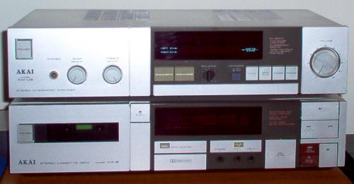 Akai HX-2 magnó és Akai AM-U2 erősítő