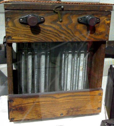 Akkumulátor fa dobozos