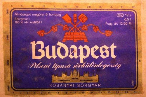 Budapest sör címke