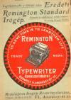 Remingtom írógép reklámja