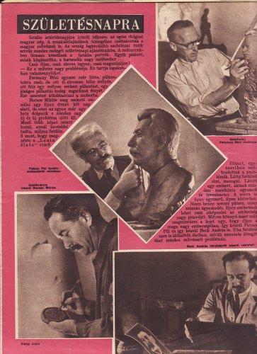 Képzőművészeink készülnek Sztálin 70.születésnapjára