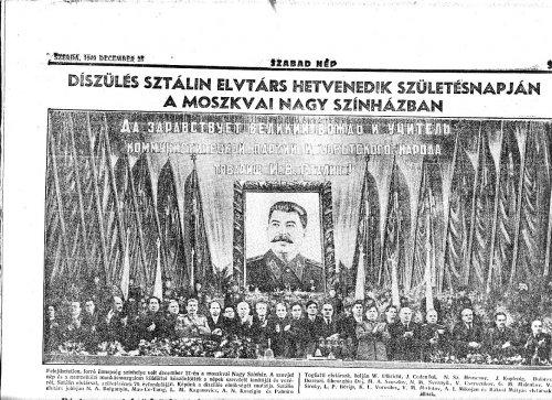 Diszünnepség Sztálin 70. születésnapján